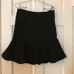 INC black trumpet skirt. Size: 8 petite